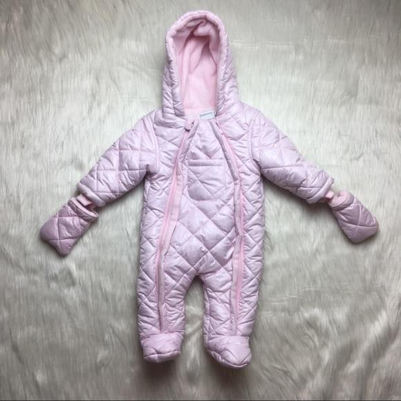 dc57796d2 Babaluno Baby Other - Babaluno Baby Pink Zip Up Infant Girl Snowsuit